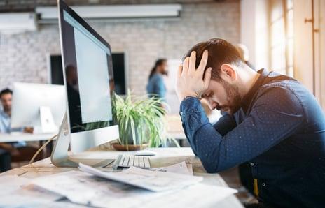 Employee under stress