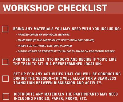 Workshop Checklist