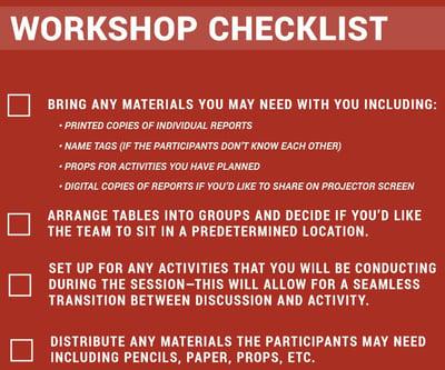 Workshop Checklist