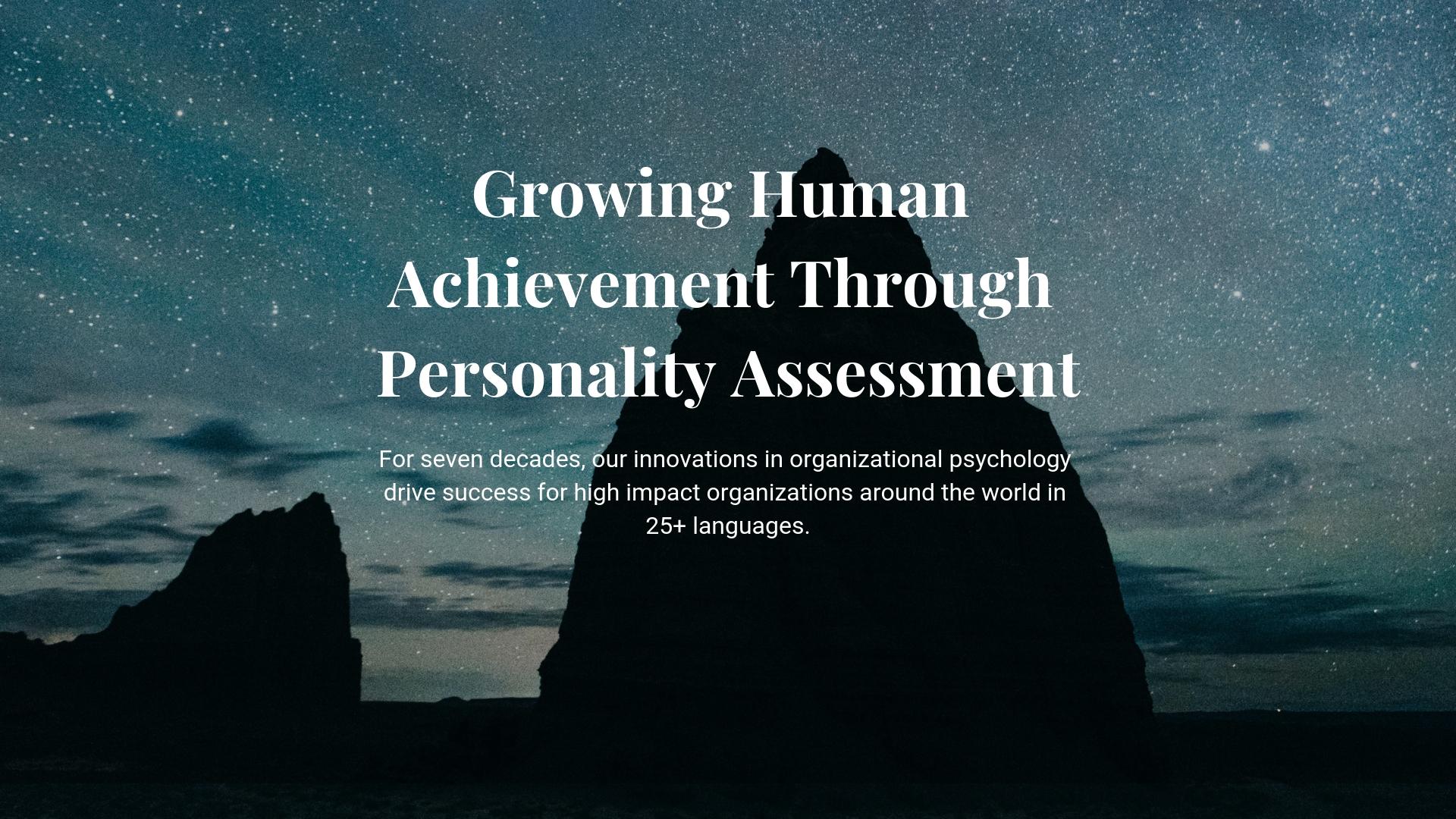 Growing Human Achiievement Through Personality Assessment (2)