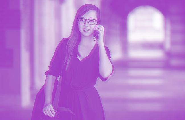Millennial Woman Talking on Phone